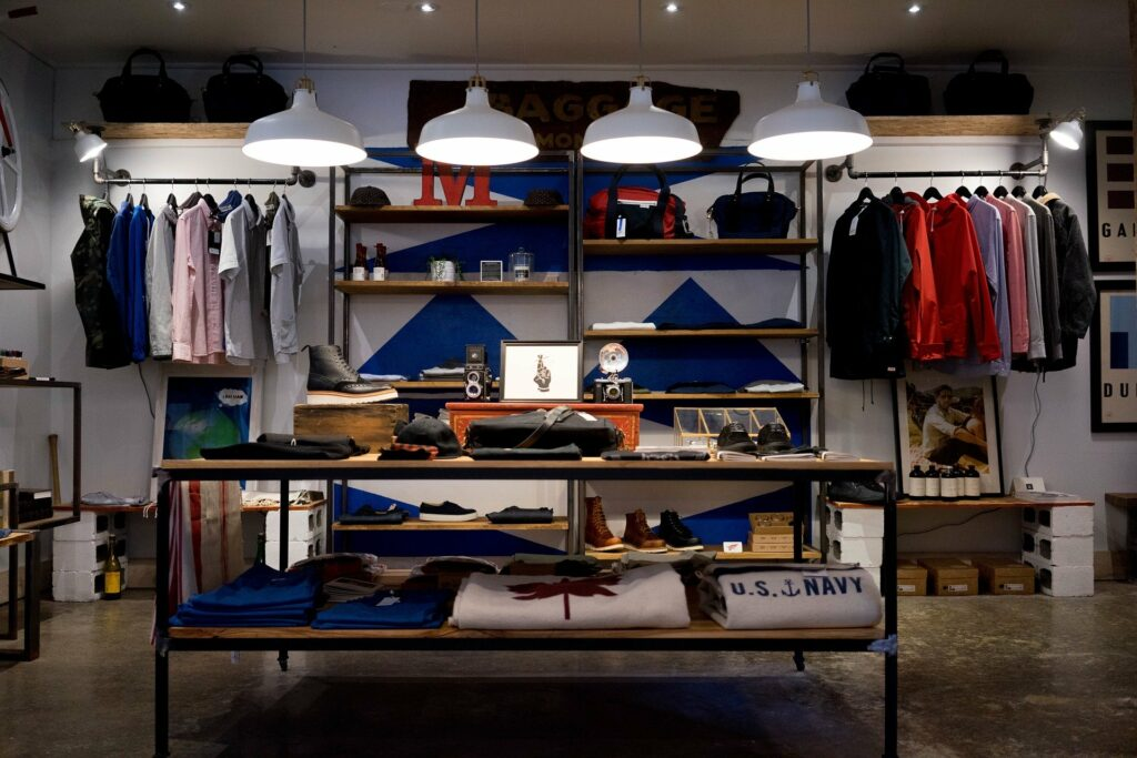 Winkelruimte zonder klanten